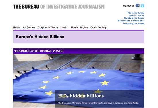 A 9 month investigation into european structural funds for Bureau for investigative journalism