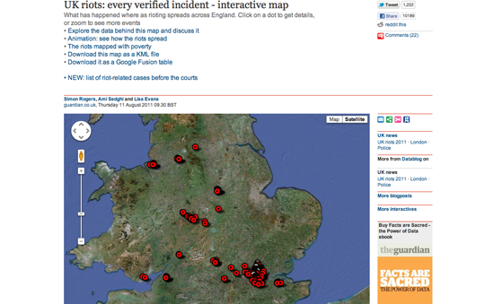 The Guardian Datablogs Coverage Of The UK Riots The Data - Map of us before and after the riots