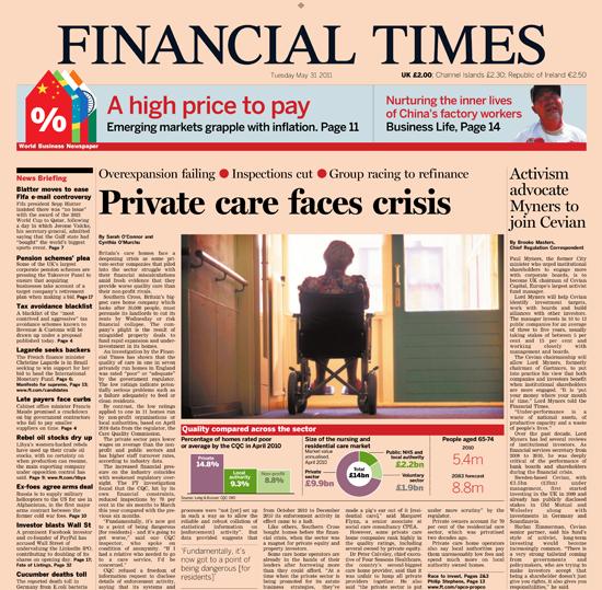 Figure 45. <em>Private care faces crises</em> (Financial Times)