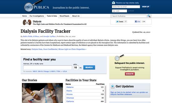 Figure 82. <em>Dialysis Facility Tracker</em> (ProPublica)