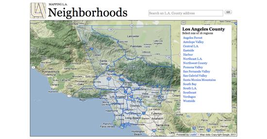Figure 83. <em>Mapping LA</em> (Los Angeles Times)